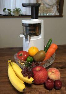 ヒューロム スロージューサーと果物