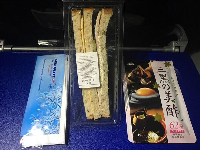 花菜・三黒の美酢と国内線機内食