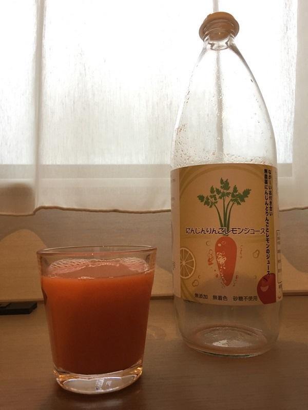 ピカイチ野菜くんのにんじんりんごレモンジュース
